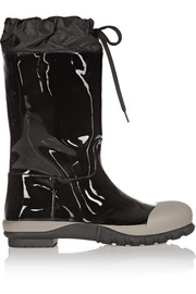 Miu Miu Patent-leather and shell boots