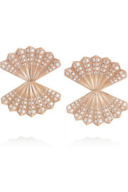 Fan 18-karat rose gold diamond earrings