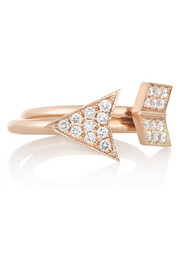 Anita Ko Arrow set of two 18-karat rose gold diamond rings