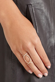 Anita Ko Double Infinity 18-karat rose gold diamond ring