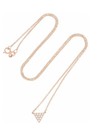 Anita Ko 18-karat rose gold diamond necklace