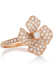 Anita Ko Shamrock 18-karat rose gold diamond ring