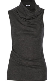 Helmut Lang Draped wool-jersey top