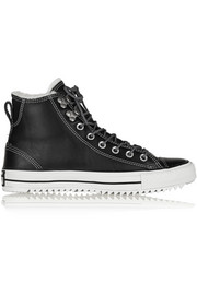 Chuck Taylor All Star City Hiker shearling-lined leather high-top sneakers