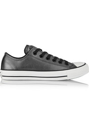 Converse All Star metallic leather sneakers