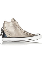 Converse Chuck Taylor All Star Tri Zip leather high-top sneakers