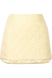 Miu Miu Quilted shell mini skirt