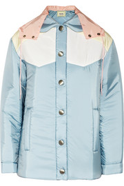 Miu Miu Color-block padded shell jacket
