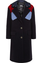 Miu Miu Color-block wool coat