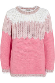 Chunky-knit wool sweater