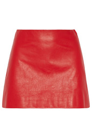 Miu Miu Leather mini skirt