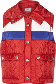 Hooded quilted shell vest