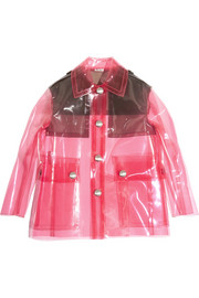 Two-tone PU jacket