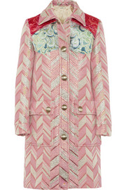 Miu Miu Metallic jacquard coat