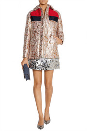Miu Miu Hooded metallic jacquard jacket