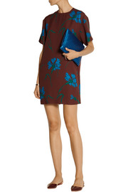 Miu Miu Printed crepe mini dress