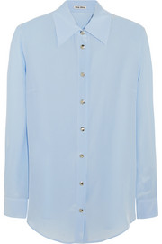 Miu Miu Washed-silk shirt