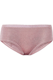 Miu Miu Metallic stretch-knit briefs