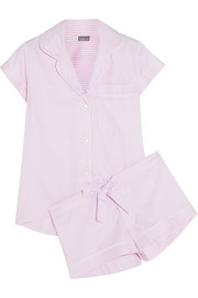 Bodas Verbier striped cotton pajama set