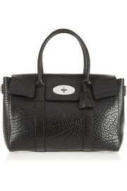 The Bayswater Buckle textured-leather tote