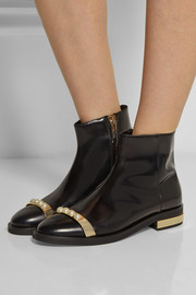 Finds + Coliac Beatles Valentina embellished leather ankle boots