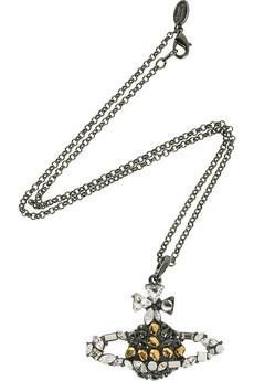 Vivienne WestwoodCrystal-embellished orb pendant