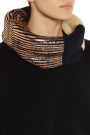 Finds + Eleven Everything foil-print merino wool snood