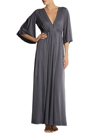 Back Label Jersey maxi dress
