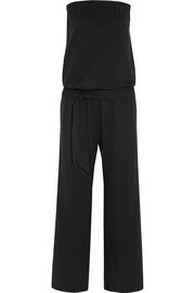 Cotton-blend jersey jumpsuit