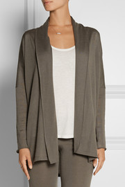 Back Label Draped cashmere cardigan