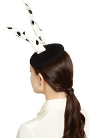 Finds + Benoît Missolin Alice polka-dot silk and rabbit-felt headpiece