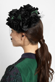 Finds + Benoît Missolin Grace silk and rabbit-felt headpiece