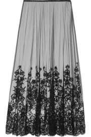 SOS Lovissimo embroidered tulle maxi skirt