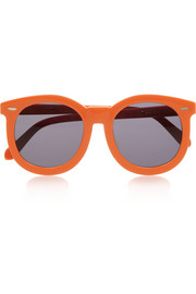 + Karen Walker Super Worship round-frame acetate sunglasses