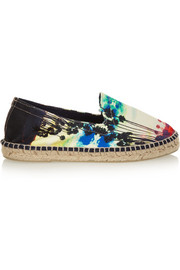 Manebi LA Palms printed canvas espadrilles