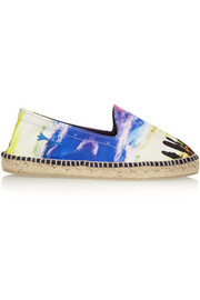 Manebi Sunset Surf printed canvas espadrilles