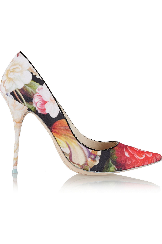 J.Crew + Sophia Webster Lola floral-print satin pumps