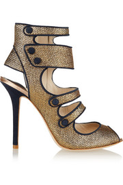 + Sophia Webster Amma suede-trimmed jacquard sandals