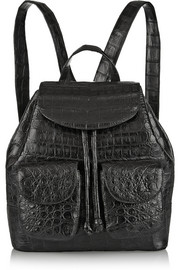 Glossed-crocodile backpack