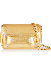 Nancy Gonzalez Metallic crocodile shoulder bag