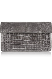 Nancy Gonzalez Glossed-crocodile clutch