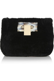Tory Burch Shearling clutch