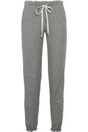 CLU Cotton-blend terry track pants