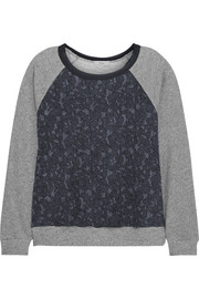 CLU Paneled cotton-blend jersey sweatshirt