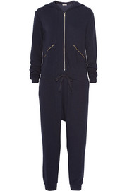 CLU Hooded cotton French terry jumpsuit
