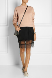 CLU Satin, chiffon and lace skirt