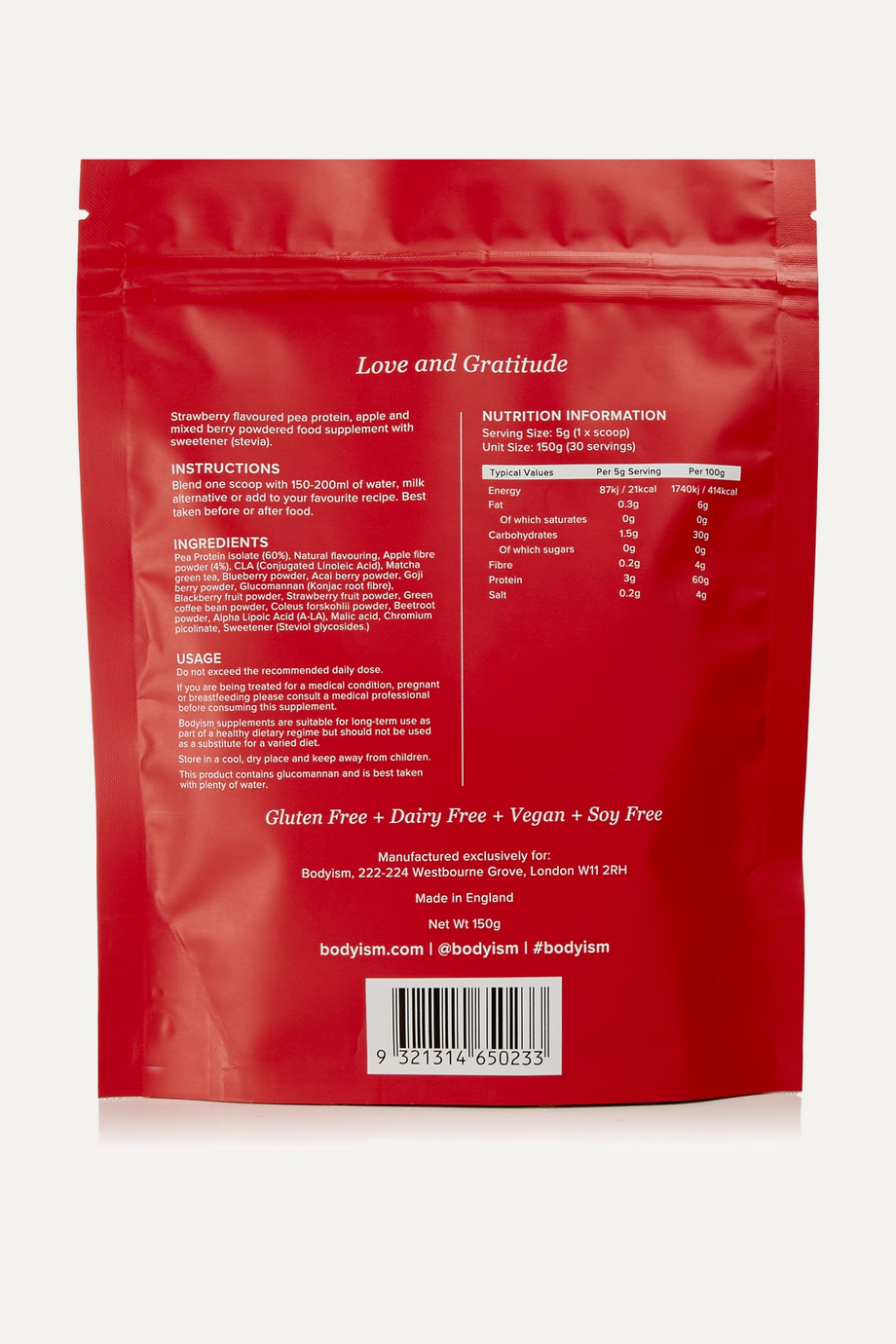 Bodyism Berry Burn supplement, 150 g – Nahrungsergänzungsmittel