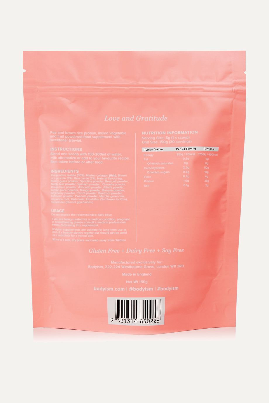 Bodyism Beauty Food supplement, 150 g – Nahrungsergänzungsmittel
