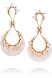 Fernando Jorge Fusion 18-karat rose gold multi-stone earrings