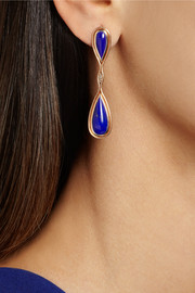 Fernando Jorge 18-karat rose gold, diamond and lapis lazuli earrings